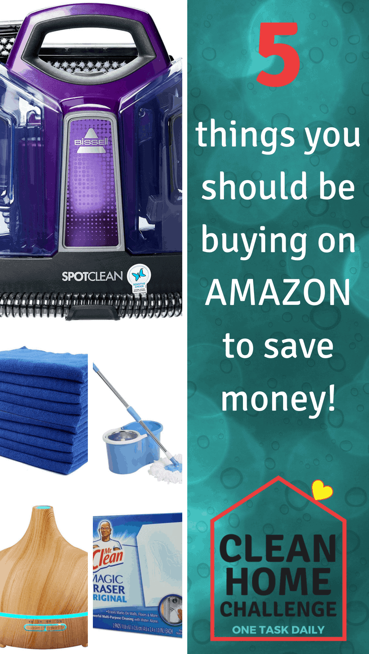 5 things to buy on Amazon to save money Clean Home Challenge