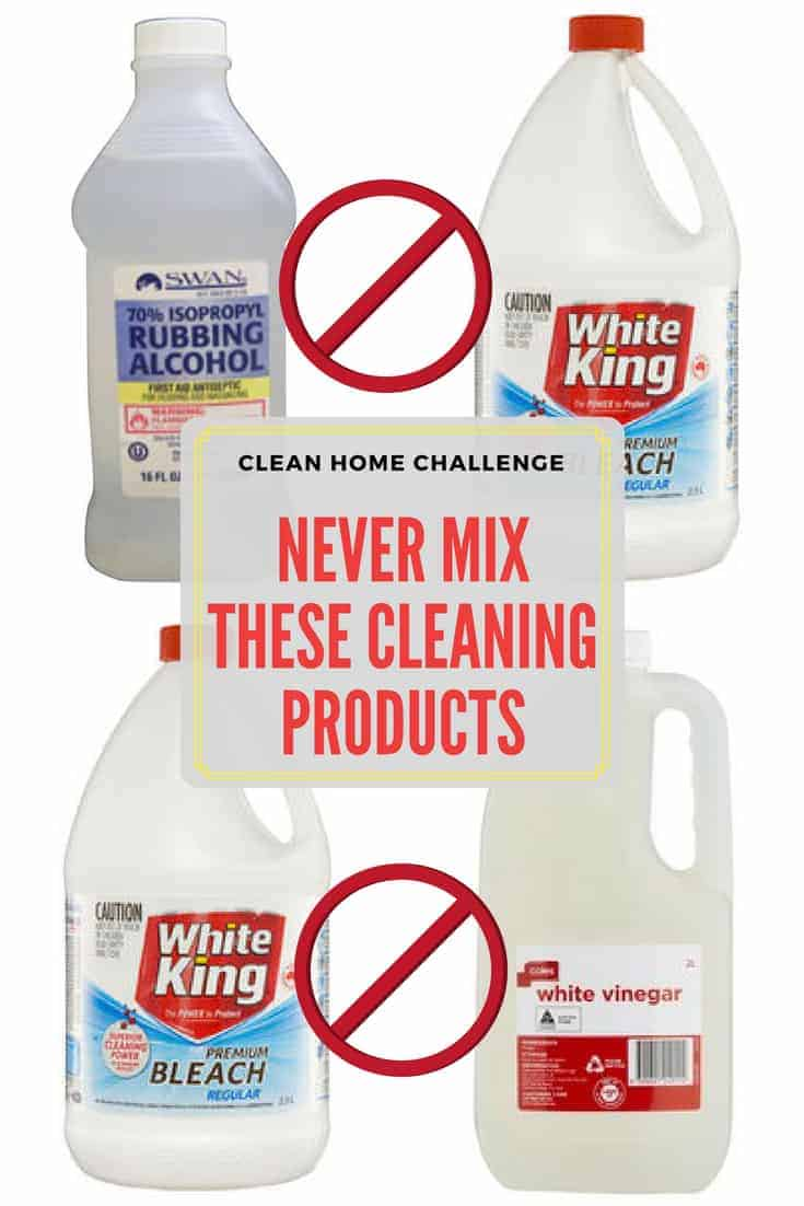 Cleaning Products You Should Never Mix - Clean Home Challenge