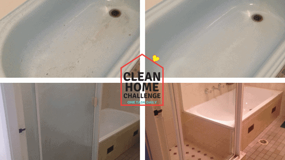 Before & After Miracle Bathtub Cleaner