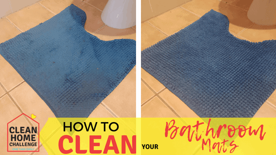 HOW TO CLEAN YOUR BATHROOM MATS - Clean Home Challenge