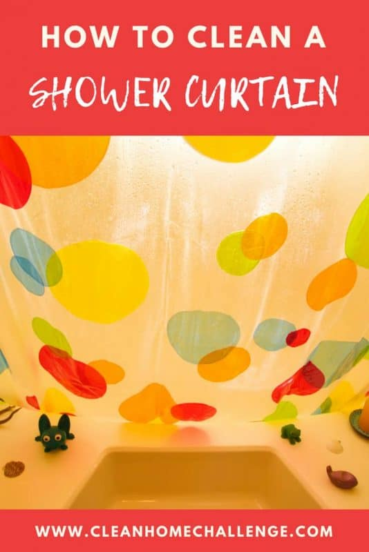 HOW TO clean a shower curtain by hand