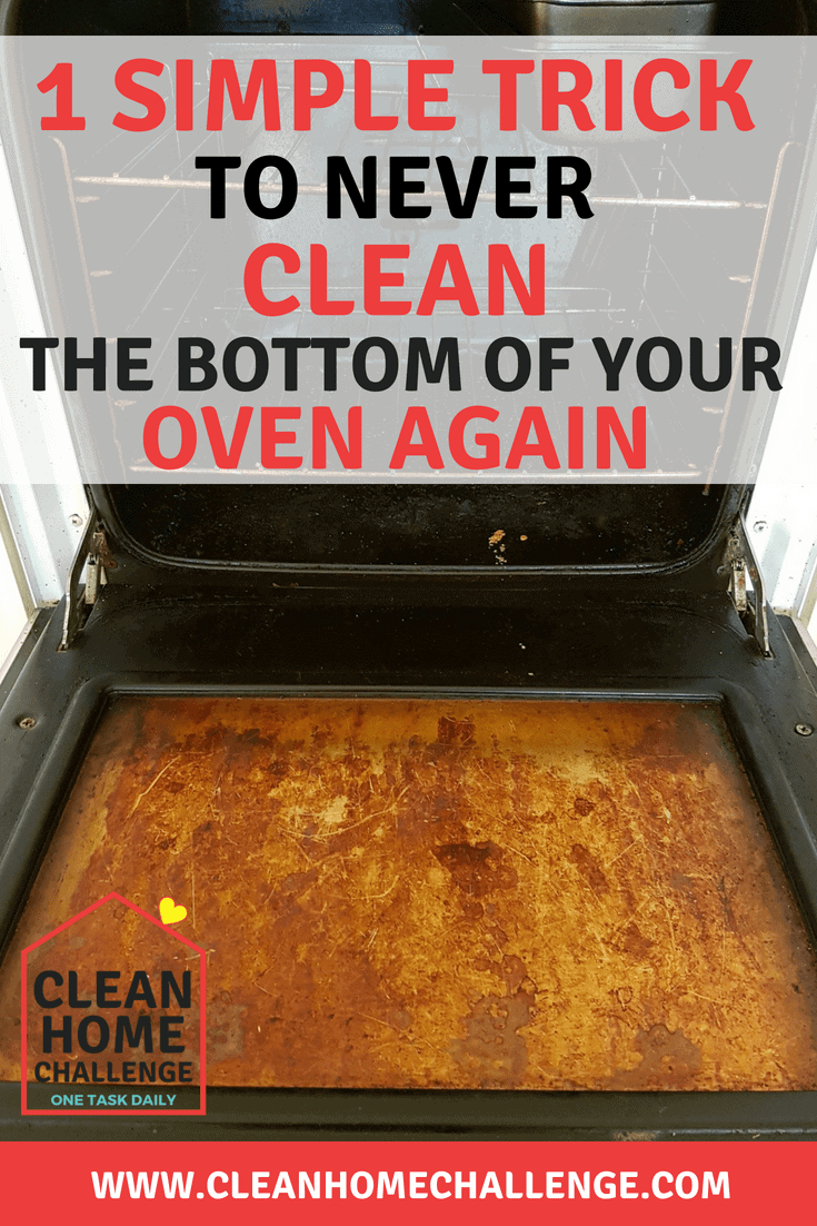 Keep The Bottom Of Your Oven Clean