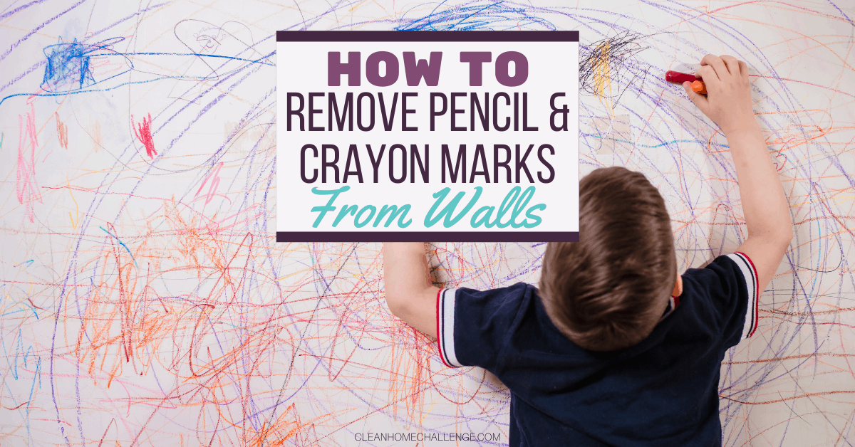 How to Remove Pencil and Crayon Marks from Walls