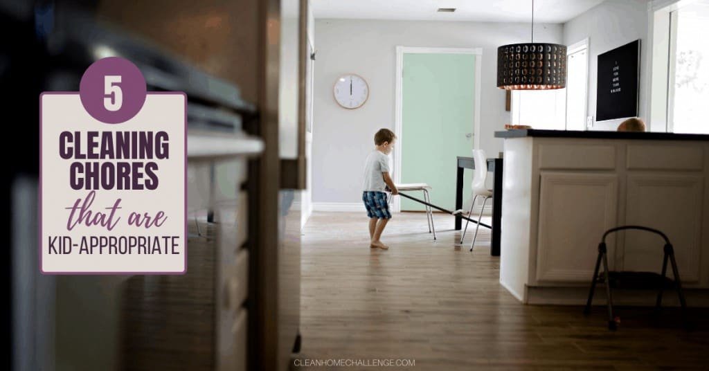 5 Cleaning Chores That Are Kid-Appropriate